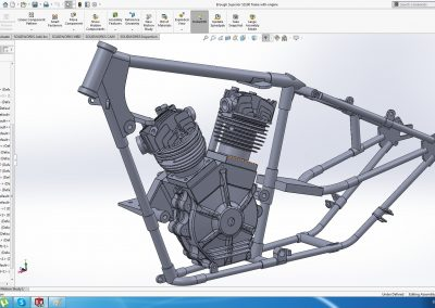 Brough Superior frame and engine