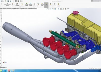 Cylinder head modified ITBs