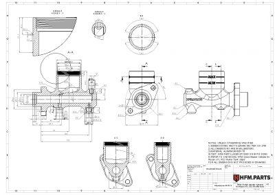 HFM Clutch Master Cylinder for Nissan S13, R32 Shorter tank