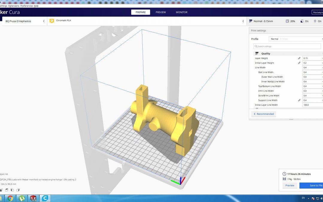 Intake manifold 3D print