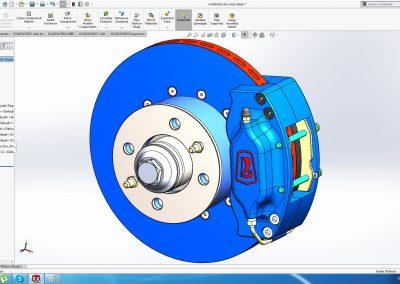 Ventilated brake disk and four piston caliper VAZ (Lada)