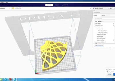 Center section – three piece wheel 3D print