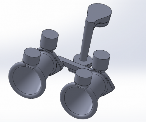 3D model of the casting with the pouring system