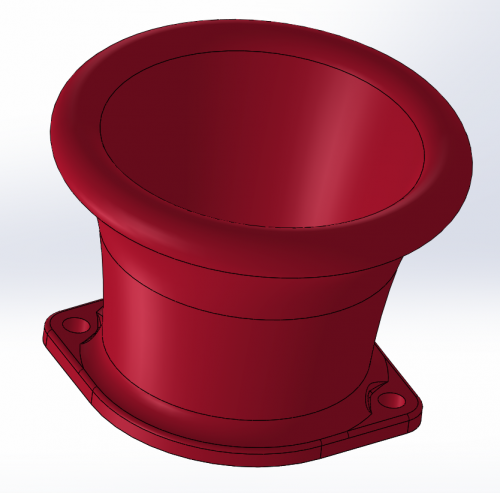 Velocity stack with flange