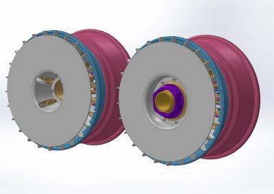 Three piece wheel based on BBS E50/E55