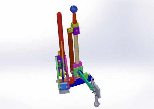 The system for moving the gearbox lever left to right can be seen. Due to the small lever length, it requires some effort to operate it