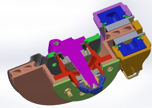 Cross section of the ventilated assembly